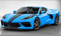 2020 Chevrolet Corvette C8 in Rapid Blue in 1:18 Scale By GT Spirit