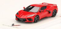Chevrolet Corvette C8 Stingray Torch Red in 1:43 Scale by Truescale Miniatures