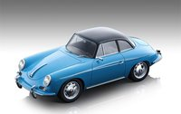 1961 Porsche 356 Karmann Hardtop Light Blue in 1:18 Scale by Tecnomodel