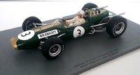 1966 Brabham BT19 No.3  World Champion Jack Brabham Model Car in 1:18 Scale by Spark