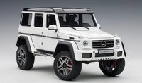Mercedes-Benz G500 4x4² in Gloss White in 1:18 Scale by AUTOart