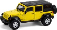 2008 Jeep Wrangler Unlimited Rubicon All Terrain Series in Detonator Yellow in 1:64 scale by Greenlight