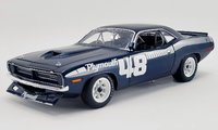 #48 1970 Plymouth Trans Am Cuda - Pilot Car Diecast Model by Acme in 1:18 Scale