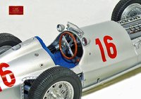 1938 Mercedes-Benz W154, Seaman #16 Diecast Model Car by CMC in 1:18 Scale