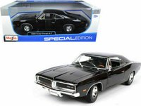 Dodge Charger '69 Black in 1:18 scale by Maisto