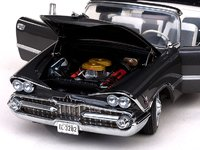 1959 Dodge Custom Royal Lancer Open Convertible - Pewter Poly Diecast Model Car in 1:18 Scale by Sun Star