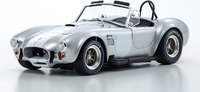 SHELBY COBRA 427 S/C Silver/White in 1:18 scale by Kyosho