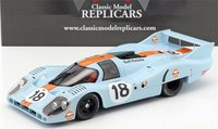 Porsche 917 Long Tail Gulf LeMans 1971 #18 Resin Model in 1:18 scale by CMR