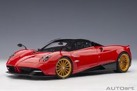 Pagani Huayra Roadster Rosso Monza Red in 1:18 Scale by AUTOart