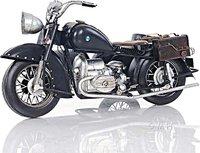 Black Vintage Motorcycle by Old Modern Handicrafts