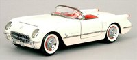 1953 Corvette Diecast Model Car in Polo White by The Franklin Mint in 1:24 Scale