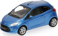 2009 FORD KA - BLUE METALLIC Model Car in 1:43 Scale by Minichamps