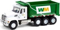 Waste Management 2020 Mack Granite Dump Truck in 1:64 scale by Greenlight