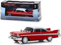 1958 Plymouth Fury Red Evil Version with Blacked Out Windows Christine 1983 Movie in 1:43 scale by Greenlight