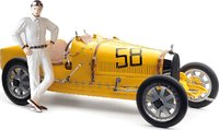 1924 Bugatti T35 Belgium w Female Figurine Diecast Model Car by CMC in 1:18 Scale
