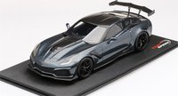 2019 Corvette ZR1 in Dark Shadow Metallic in 1:18 Scale by Topspeed