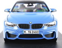 BMW M4 COUPE MARINA BLUE in 1:18 scale by Paragon