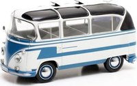 1962 Volkswagen T1 Auwearter Carlux in Blue and white Diecast Model Car in 1:43 Scale by Matrix