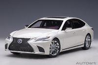Lexus LS 500h Sonic White Metallic in 1:18 Scale by Autoart