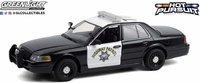 """2008 Ford Crown Victoria Police Interceptor  California Highway Patrol """"Hot Pursuit"""" in 1:24 scale by Greenlight"""