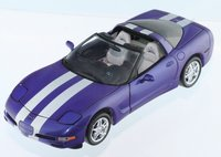 2000 Platinum Power Corvette  Limited Edition of 500 Pieces by The Franklin Mint in 1:24 Scale