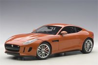 2015 Jaguar F-Type R Coupe in Firesand Metallic Orange Model Car in 1:18 Scale by AUTOart
