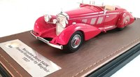 1937 Mercedes-Benz 540K Spezialroadster Mayfair in Red Resin Model in 1:43 Scale by GLM