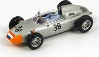 Porsche 718, No.38, 6th French GP 1962 Carel Godin de Beaufort Model Car in 1:43 Scale by Spark