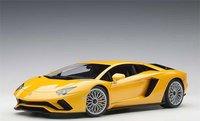 Lamborghini Aventador S in Yellow in 1:18 Scale by AUTOart