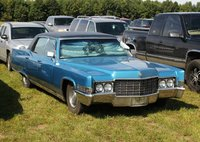 1969 Cadillac Fleetwood 60 Special Brougham Blue in 1:43 Scale by GLM