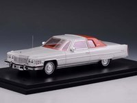 1974 Cadillac Coupe Deville Cotillion White in 1:43 Scale by Stamp Models