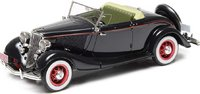 1933 Ford Model 40 Roadster Opened Black in 1:43 Scale by Esval