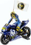 Yamaha YZR M1 GP Catalunya 2018 Valentino Rossi in 1:12 Scale by Minichamps