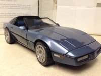 1984 Corvette Coupe blue in 1:24 scale by Franklin Mint