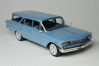 1960 Pontiac Safari Color Skymist Blue in 1:43 Scale by Goldvarg Collection