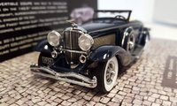 1936 Duesenberg SJN (Supercharged) Convertible Coupe in Dark Blue Resin Model Car in 1:43 Scale by Minichamps
