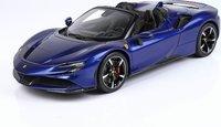 Ferrari SF90 Spider Met Blu Elettrico in 1:18 scale by BBR