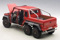 2013 Mercedes-Benz G63 Amg 6x6 in Red Diecast Model Car in 1:18 Scale by AUTOart