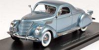 1937 Lincoln Zephyr Coupe blue Resin Model Car in 1:43 Scale by Neo