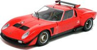 Lamborghini Miura SVR - Red/Black Diecast Model in 1:18 Scale by Kyosho