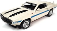 1970 Ford Mustang Shelby GT500 Fastback  white in 1:18 scale by Auto World