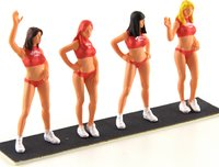 Set of 4 Hawaiian Tropic Girls in 1:43 scale by Lemans Miniatures
