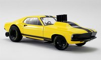 "1969 Mustang Gasser ""Stinger"" in Yellow in 1:18 Scale by GMP"