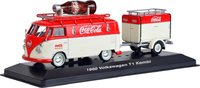 1960 Volkswagen Kombi T1 with trailer in 1:43 scale by Motor City Classics