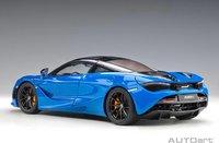 McLaren 720s in Paris Blue / Metallic Blue in 1:18 Scale by AUTOart