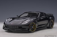 2016 Corvette C7 Z06 Black with C7.R Edition Package in 1:18 Scale by AUTOart