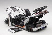 Koenigsegg One: 1, Moon Grey/Carbon Black/Orange Accents in 1:18 Scale by AUTOart
