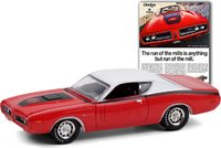 "1971 Dodge Charger Super Bee ""The Run Of The Mills Is Anything But Run Of The Mill"" in 1:64 scale by greenlight"