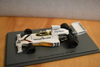 MCLAREN M23 NO.30 BRITISH GP 1973 JODY SCHECKTER in 1:43 scale by Spark