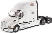 """Peterbilt 579 UltraLoft SBFA with 72"""" Sleeper Pearl White in 1:50 scale by Diecast Masters"""